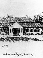 Rysunek prof. Jana Olszewskiego, z książki M. Rawity-Witanowskiego, Dawny powiat chęciński...,